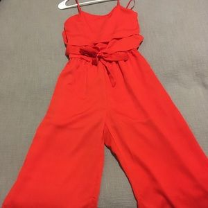 Red jumpsuit size small